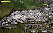 aerial photograph of  White Rose Shopping Centre Leeds Yorkshire England UK