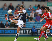 Millwall player Jack Powell during the Sky Bet League 1 match between Millwall and Chesterfield at The Den, London, England on 29 August 2015. Photo by Bennett Dean.