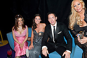 LINDA ROGERS; ALLY AZRAH; BRUCE BURKITT;JULIE PATSALIDES; Grey Goose Winter Ball to Benefit the Elton John AIDS Foundation. Battersea park. London. 29 October 2011. <br /> <br />  , -DO NOT ARCHIVE-© Copyright Photograph by Dafydd Jones. 248 Clapham Rd. London SW9 0PZ. Tel 0207 820 0771. www.dafjones.com.