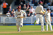 Dom Bess of Somerset running while batting during the Specsavers County Champ Div 1 match between Somerset County Cricket Club and Lancashire County Cricket Club at the Cooper Associates County Ground, Taunton, United Kingdom on 5 September 2018.