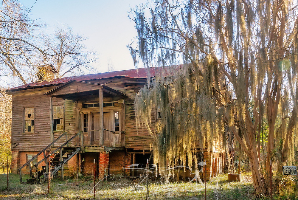 "The dilapidated remains of the Fambro Arthur home are pictured, Feb. 7, 2015, at Old Cahawba Archaeological Park in Orrville, Alabama. The wooden frame cottage was built in the 1840's and was more typical of the average person's house in the antebellum era. Besides the slave quarters at Kirk-View mansion, the Fambro/Arthur home is the only remaining structure on the grounds of Old Cahawba Archaeological Park. Cahaba, also known as ""Old Cahawba,"" was Alabama's state capital from 1819-1826 but was abandoned after the Civil War. It is now considered a ghost town. It is located in Dallas County near Selma, Alabama and is considered ""at risk"" by the Alabama Historical Commission, which is seeking funds to restore it. (Photo by Carmen K. Sisson/Cloudybright)"