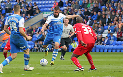 Peterborough United's Michael Bostwick scores his first goal of the game - Photo mandatory by-line: Joe Dent/JMP - Mobile: 07966 386802 - 25/04/2015 - SPORT - Football - Peterborough - ABAX Stadium - Peterborough United v Crawley Town - Sky Bet League One