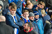 Blackburn Rovers fans during the EFL Sky Bet League 1 match between Fleetwood Town and Blackburn Rovers at the Highbury Stadium, Fleetwood, England on 20 January 2018. Photo by Michal Karpiczenko.