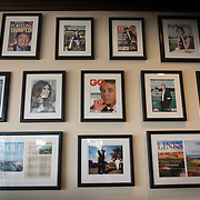 DORAL, FLORIDA, JANUARY 10, 2018<br /> Framed photographs of Donald J. Trump and his family members greet patrons of the Trump National Doral Miami Golf Shop at the Trump National Doral Miami. <br /> (Photo by Angel Valentin/Freelance)