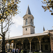 Tower of the Imperial Chamber at the Topkapi Palace, the Ottoman palace in Istanbul's Sultanahmet district.