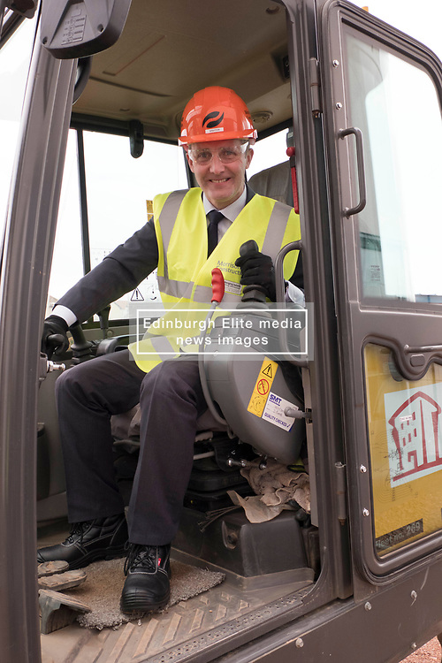Pictured: Michael Matheson<br /> <br /> Infrastructure Secretary Michael Matheson visited East Lothian Community Hospital's construction site today to give an update on the Scottish Government's infrastructure programme, on the same day as an annual progress report is published<br /> <br /> Ger Harley | EEm 17 April 2019