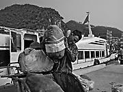 Vietnam, Ha Long Bay : Cat Ba Harbour .