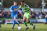 Forest Green Rovers Tahvon Campbell(25) during the EFL Sky Bet League 2 match between Forest Green Rovers and Notts County at the New Lawn, Forest Green, United Kingdom on 10 March 2018. Picture by Shane Healey.