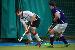 Sevenoaks v Southgate  - Men's Hockey League - East Conference, Holly Bush Lane, Sevenoaks, UK on 26 February 2017. Photo: Simon Parker