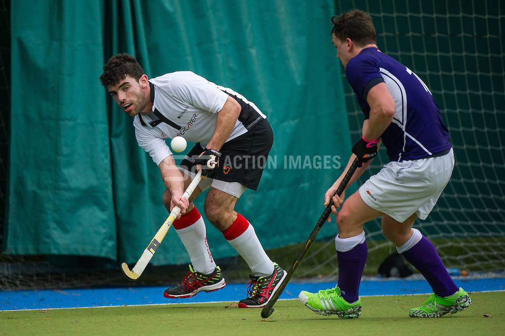 Sevenoaks v Southgate  - Men's Hockey League - East Conference, Holly Bush Lane, Sevenoaks, UK on 26 February 2017. Photo: Simon Parker