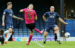 Marcus Maddison of Peterborough United scores his goal - Mandatory byline: Joe Dent/JMP - 07966386802 - 05/09/2015 - FOOTBALL - Roots Hall -Southend,England - Southend United v Peterborough United - Sky Bet League One