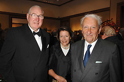 Left to right, HENRY & TESSA KESWICK and LORD LEACH at a reception to launch the Knight of Glin's book 'Irish Furniture' and Harry Erne's book 'Freddy Lond Ears' held at Christie's, 8 King Street, London SW1 on 3rd May 2007.<br />