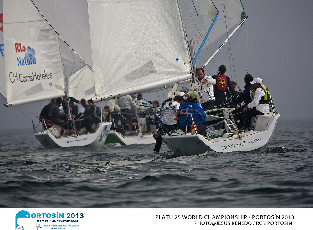 Platu 25 World Championships, Portosín , Galicia, Spain. 24-29 September 2013 . Day 1 ©