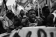 """Manifestazione nazionale per i """"Diritti senza confini"""" promossa da associazioni di migranti, movimenti per la casa, studenti e sindacati. Roma, 16 Dicembre 2017. Christian Mantuano / OneShot<br /> <br /> National demonstration """"Rights without borders"""" in central Rome. 16 December 2017. Christian Mantuano / OneShot"""