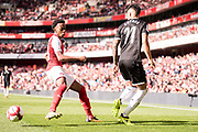 Sevilla forward Joaquin Correa (11), Arsenal Joe Willock (69) during the Emirates Cup 2017 match between Arsenal and Sevilla at the Emirates Stadium, London, England on 30 July 2017. Photo by Sebastian Frej.