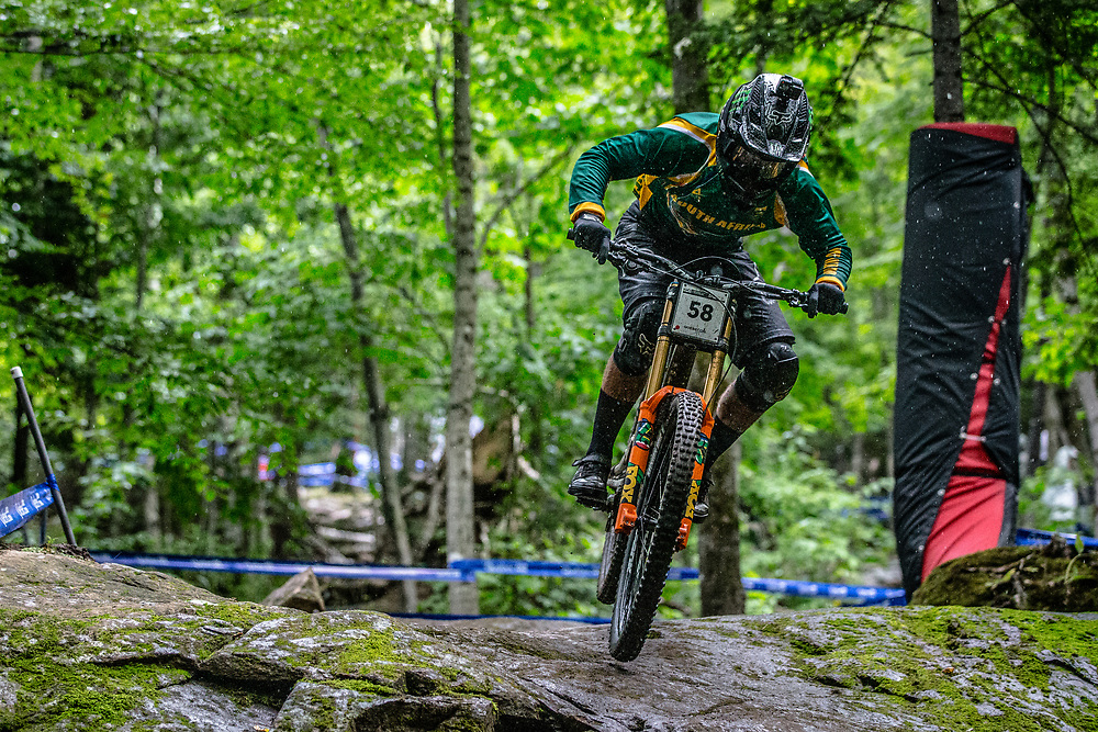 ERLANGSEN Theo (RSA) at the Mountain Bike World Championships in Mont-Sainte-Anne, Canada.