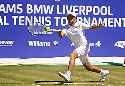 LIVERPOOL, ENGLAND - Friday, June 21, 2019: Chun-Hsin Tseng (TPE) during Day Two of the Liverpool International Tennis Tournament 2019 at the Liverpool Cricket Club. (Pic by David Rawcliffe/Propaganda)