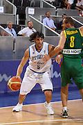 DESCRIZIONE : Madrid Spagna Spain Eurobasket Men 2007 Qualifying Round Italia Lituania Italy Lithuania<br /> GIOCATORE : Gianluca Basile<br /> SQUADRA : Italia Italy<br /> EVENTO : Eurobasket Men 2007 Campionati Europei Uomini 2007<br /> GARA : Italia Italy Lituania Lithuania<br /> DATA : 08/09/2007<br /> CATEGORIA : Penetrazione<br /> SPORT : Pallacanestro<br /> AUTORE : Ciamillo&amp;Castoria/E.Castoria