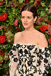 © Licensed to London News Pictures. 18/11/2018. London, UK. Claire Foy attends the 64th Evening Standard Theatre Awards held at the Theatre Royal, Dury Lane. Photo credit: Ray Tang/LNP