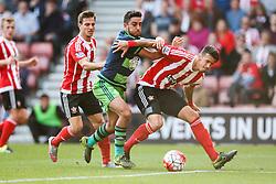 Southampton's Jose Fonte keeps Swansea City's Neil Taylor off the ball - Mandatory by-line: Jason Brown/JMP - 07966 386802 - 26/09/2015 - FOOTBALL - Southampton, St Mary's Stadium - Southampton v Swansea City - Barclays Premier League
