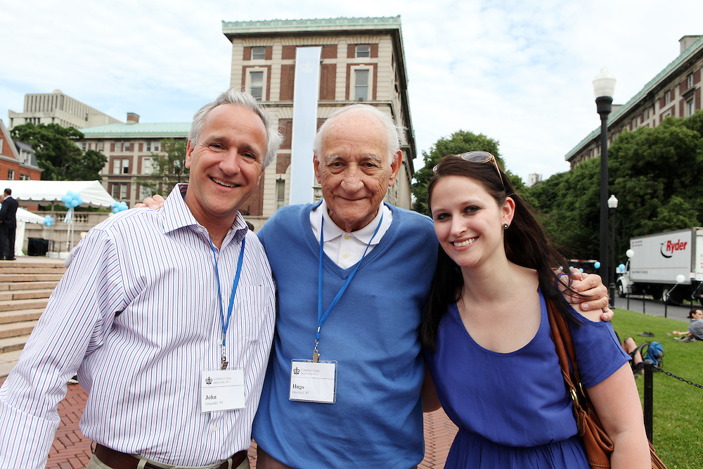 John Gruendel '83 (left).Hugo Gruendel '47 (center, father of John).Catherine Kaelin '10 (John's neice, Hugo's granddaughter) ..