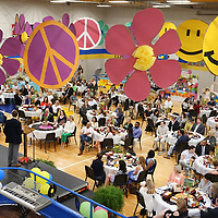 Tupelo Public School District Officials, teachers and AEE members fill the gym at Milam for this years AEE grants luncheon Friday morning. Teachers who received AEE grants from last year showed what they used their grant money for prior to the lunch.