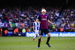 March 30, 2019 - Barcelona, Catalonia, Spain - 05 Sergio Busquets of FC Barcelona during the ''Derby'' of La Liga match between FC Barcelona and RCD Espanyol in Camp Nou Stadium in Barcelona 30 of March of 2019, Spain. (Credit Image: © Xavier Bonilla/NurPhoto via ZUMA Press)