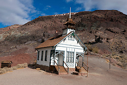 Historic one room school house, Calico Ghost Town, Calico, California, United States of America