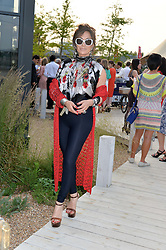 NANCY DELL'OLIO at a reception hosted by Eco World Ballymore and the English National Ballet to celebrate their partnership at London City Island, Orchard Place, London E14 on 1st July 2015