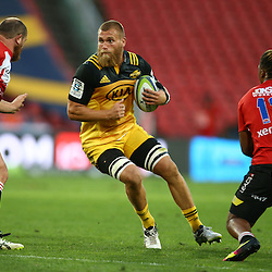 JOHANNESBURG, SOUTH AFRICA - APRIL 30: Brad Shields of the Hurricanes during the Super Rugby match between Emirates Lions and Hurricanes at Emirates Airline Park on April 30, 2016 in Johannesburg, South Africa. (Photo by Steve Haag/Gallo Images)