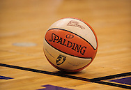 Sep 5, 2010; Phoenix, AZ, USA; Detail view the of Phoenix Mercurys' women's basketball sits on the court during game two of the western conference finals in the 2010 WNBA Playoffs at US Airways Center.  The Storm defeated the Mercury 91-88.  Mandatory Credit: Jennifer Stewart-US PRESSWIRE
