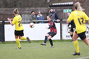 Charley Boswell and  during the Women's FA Cup match between Watford Ladies FC and Brighton Ladies at the Broadwater Stadium, Berkhampstead, United Kingdom on 1 February 2015. Photo by Stuart Butcher.