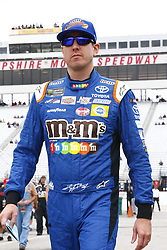 September 22, 2017 - Loudon, New Hampshire, United States of America - September 22, 2017 - Loudon, New Hampshire, USA: Kyle Busch (18) hangs out in the garage during practice for the ISM Connect 300 at New Hampshire Motor Speedway in Loudon, New Hampshire. (Credit Image: © Justin R. Noe Asp Inc/ASP via ZUMA Wire)
