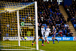 Greg Docherty of Shrewsbury Town scores a goal to make it 1-0 - Mandatory by-line: Robbie Stephenson/JMP - 26/01/2019 - FOOTBALL - Montgomery Waters Meadow - Shrewsbury, England - Shrewsbury Town v Wolverhampton Wanderers - Emirates FA Cup fourth round