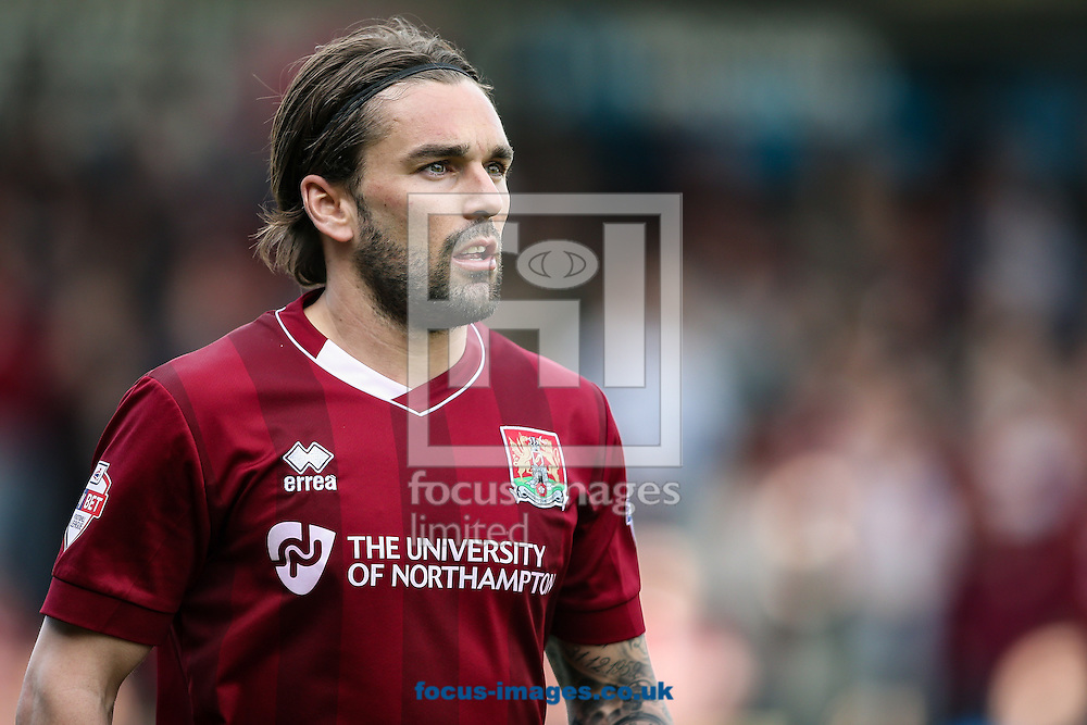 Ricky Holmes of Northampton Town during the Sky Bet League 2 match at Sixfields Stadium, Northampton<br /> Picture by Andy Kearns/Focus Images Ltd 0781 864 4264<br /> 02/04/2016