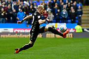 Ezgjan Alioski (10) of Leeds United controls the ball during the EFL Sky Bet Championship match between Reading and Leeds United at the Madejski Stadium, Reading, England on 10 March 2018. Picture by Graham Hunt.