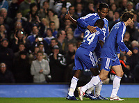 Photo: Paul Thomas.<br /> Chelsea v Levski Sofia. UEFA Champions League, Group A. 05/12/2006. <br /> <br /> Chelsea goal scorer Shaun Wright-Phillips (24) gives it the thumbs up.