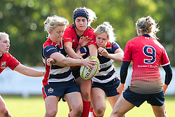 Bristol Ladies players fight for the ball - Rogan Thomson/JMP - 16/10/2016 - RUGBY UNION - Cleve RFC - Bristol, England - Bristol Ladies Rugby v Lichfield Ladies - RFU Women's Premiership.