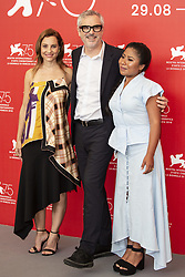 Marina de Tavira, Alfonso Cuarón, Yalitza Aparicio attend Roma photocall during the 75th Venice Film Festival at Sala Casino on August 30, 2018 in Venice, Italy. Photo by Marco Piovanotto/ABACAPRESS.COM