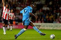 Photo: Alan Crowhurst.<br />Southampton v Coventry City. Coca Cola Championship. 09/08/2006. Dele Adebola of Coventry goes close.