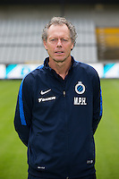 Club's head coach Michel Preud'homme poses for the photographer during the 2015-2016 season photo shoot of Belgian first league soccer team Club Brugge, Friday 17 July 2015 in Brugge