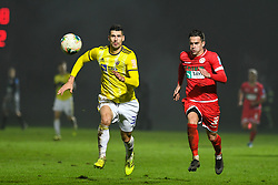 Nemanja Mitrovic of Maribor and Zivkovic Ante of Aluminij during football match between NK Aluminij and NK Maribor in 18th Round of Prva liga Telekom Slovenije 2019/20, on November 24, 2019 in Sportni park Aluminij, Kidricevo Slovenia. Photo by Milos Vujinovic / Sportida