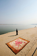 Holy man lingering the ghats of Varanasi.