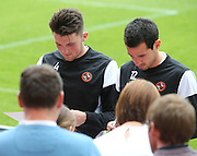 John Souttar and Ryan McGowan sign autographs - Dundee United open day at Tannadice<br /> <br /> <br />  - &copy; David Young - www.davidyoungphoto.co.uk - email: davidyoungphoto@gmail.com