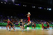 Helen Housby of England in action. Gold Coast 2018 Commonwealth Games, Netball, New Zealand Silver Ferns v England, Gold Coast Convention and Exhibition Centre, Gold Coast, Australia. 11 April 2018 © Copyright Photo: Anthony Au-Yeung / www.photosport.nz