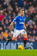 Scott Arfield (#37) of Rangers FC during the Ladbrokes Scottish Premiership match between Rangers FC and Heart of Midlothian FC at Ibrox Park, Glasgow, Scotland on 1 December 2019.