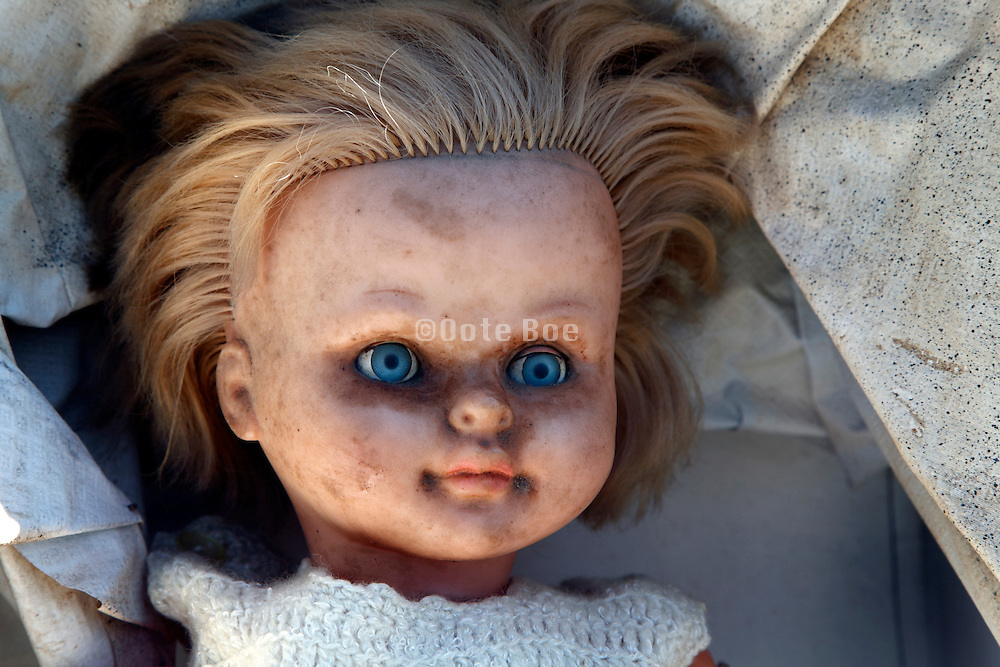 portrait of doll at a flee market