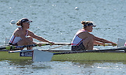 Caversham, United Kingdom,  GBR Rowing, European Championship team announcement, of crCaversham, United Kingdom, Left Louisa REEVE and Caragh MCMURTRY. GBR Rowing, European Championship team announcement, of crews competing in Belgrade, in May. Venue, GBR rowing training base, near Reading,<br />
