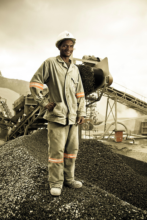 Worker at Afrimat Quarry in Worcester
