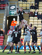2005/06, Heineken Cup, 4th Rd, Sarries Hugh Vyvyan re-directs the line out ball as  Saracens vs Ulster, at  Vicarage Road, ENGLAND   © Peter Spurrier/Intersport Images - email images@intersport-images..